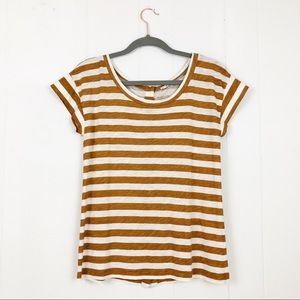 J. Crew Striped Button Back T Shirt XS